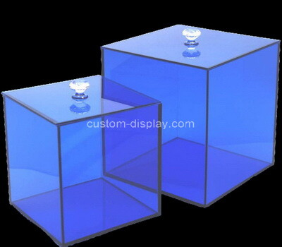 Custom blue plexiglass boxes