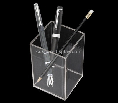 Custom table top plexiglass pens holder box
