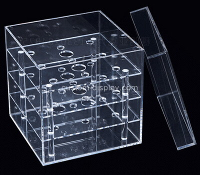 Custom clear plexiglass roses box