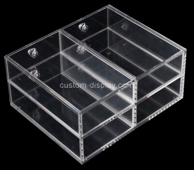 Custom clear plexiglass 4 drawers boxes