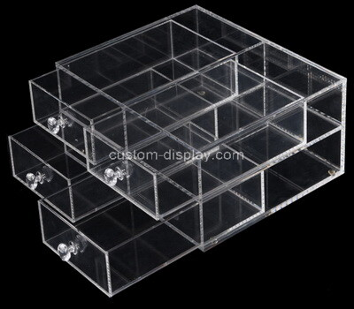 Custom clear plexiglass 4 drawers organizer