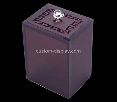 Custom purple plexiglass storage box