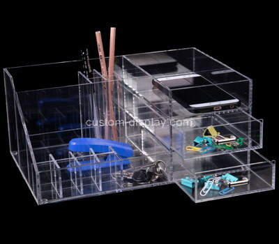 Custom table top clear plexiglass organiser boxes