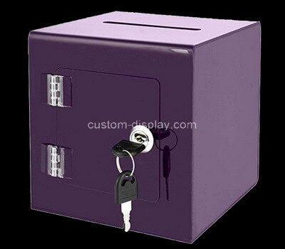 Custom purple plexiglass lockable suggetion box