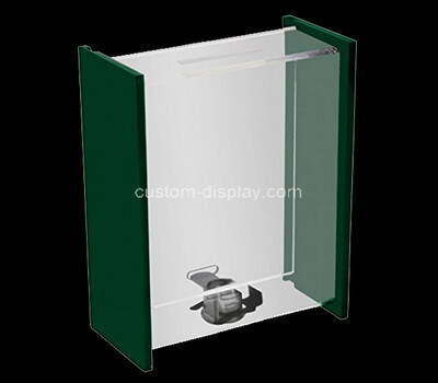 Custom plexiglass lockable voting box