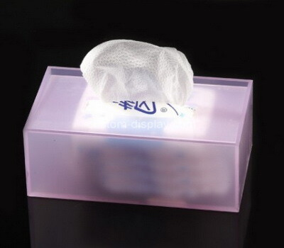 Custom plexiglass tissue paper holder box