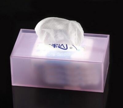 Custom plexiglass tissue paper holder box