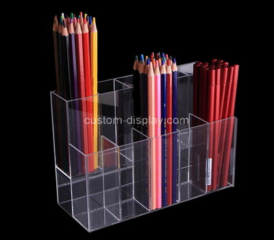 Custom clear plexiglass pencils holder box