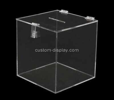 Custom clear plexiglass lockable election box