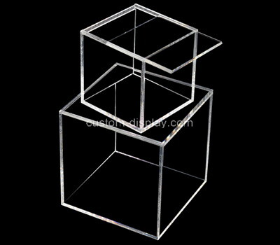 Custom square clear plexiglass boxes