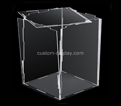 Custom clear plexiglass collapsiable case