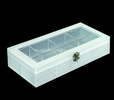 Custom 8 grids plexiglass organizer boxes