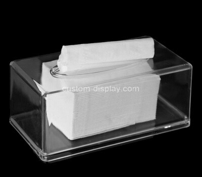 Custom clear plexiglass tissue paper holder box