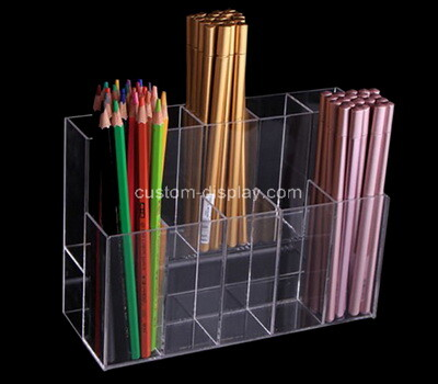 Custom 10 grids clear plexiglass pens holder box