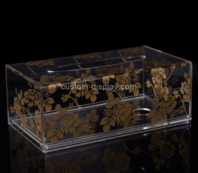 Custom clear plexiglass UV printing tissue holder box
