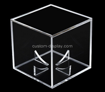 Custom clear plexiglass ball display box