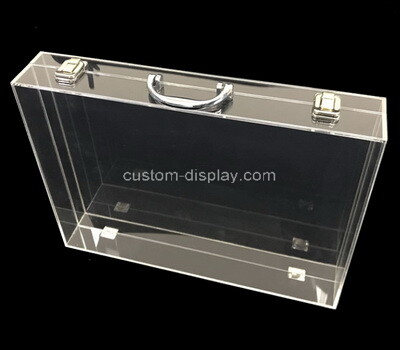 Custom flat clear plexiglass display case