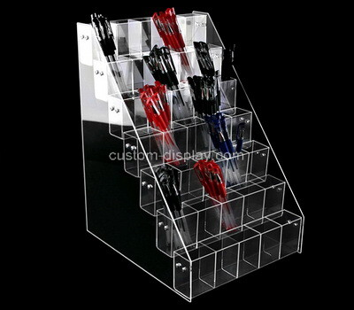Custom counter top clear plexiglass pens holder box