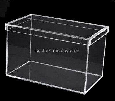 Custom large clear plexiglass box with lid