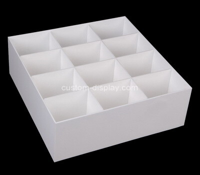 Custom 12 grids plexiglass organizer box