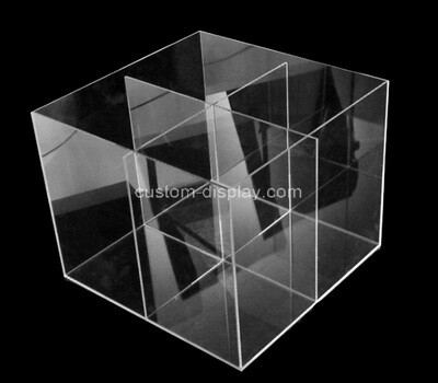 Custom 4 grids clear plexiglass organiser box