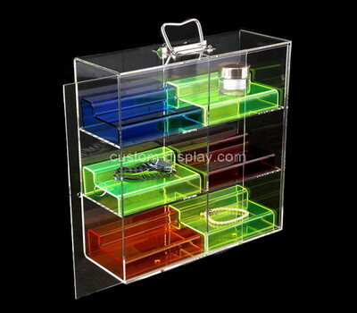 Custom 3 tiers plexiglass display cabinet