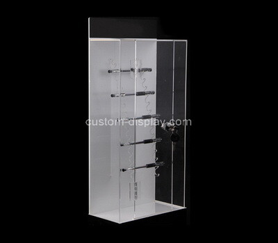 Custom plexiglass locking display cabinet