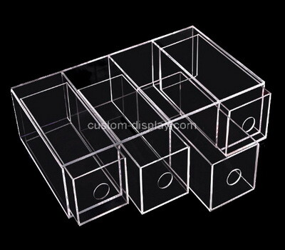 Custom clear plexiglass 4 drawers case