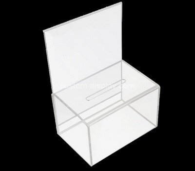 Custom clear plexiglass ballot box