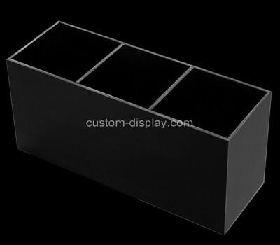 Custom 3 grids black plexiglass holder display boxes