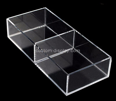 Custom 2 grids clear plexiglass holder display boxes