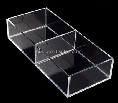 Custom 2 grids clear plexiglass holder display boxes