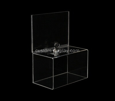 Custom clear plexiglass suggetion lockable box