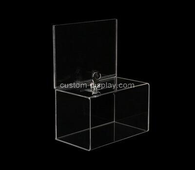 Custom clear plexiglass suggetion lockable box