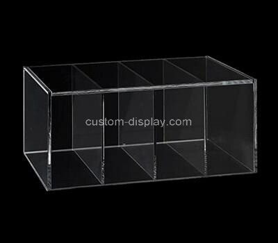 Custom 4 grids clear plexiglass box