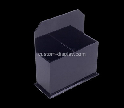 Custom 2 grids black plexiglass box