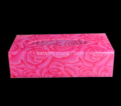 Custom plexiglass UV printing tissue paper box