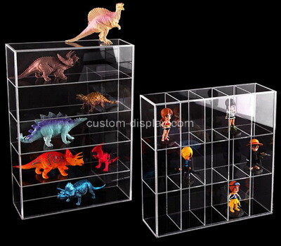 Custom multi grids clear plexiglass figures box