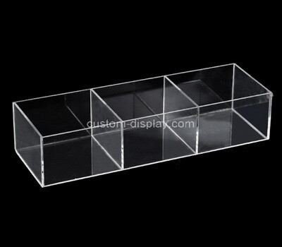 Custom 3 grids clear plexiglass box