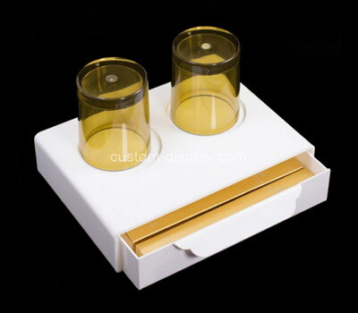 Custom plexiglass hotel supplies organizer box