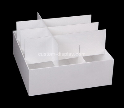 Custom 12 grids white plexiglass organizer box