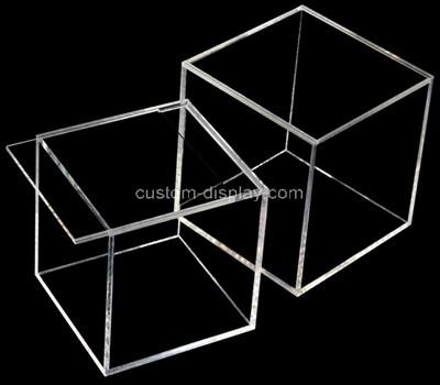 Custom clear plexiglass sliding lid display case