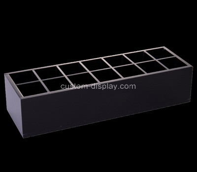 Custom 14 grids black plexiglass display case