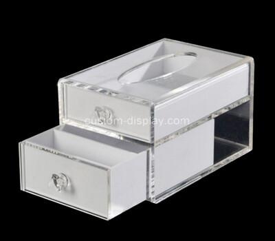 Custom plexiglass 2 drawers tissue box