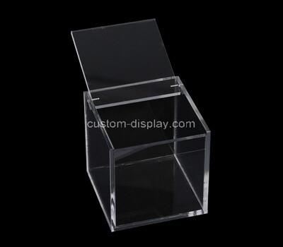 Custom squar plexiglass display case with lid