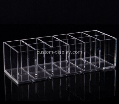 Custom 12 grids clear plexiglass organizer box