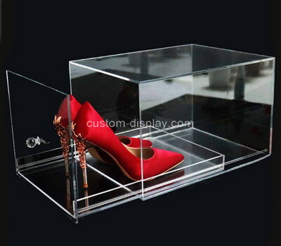 Custom clear plexiglass shoes drawer box