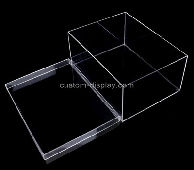 Custom clear plexiglass display box with lid