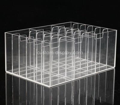 Custom 18 grids clear plexiglass display box