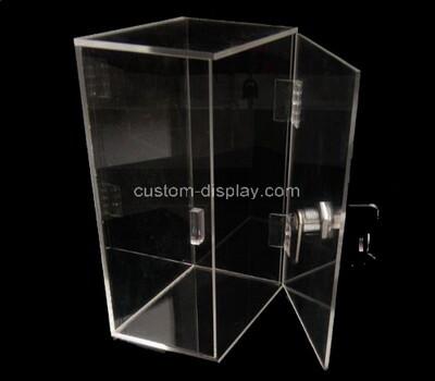 Custom clear plexiglass locking display case